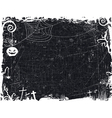 Black and white grunge Halloween frame vector image vector image