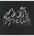 Bon Appetit paper hand lettering White text on vector image vector image