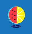 bright sign watermelon slice and lemon vector image