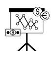 business board presentation money dollar euro vector image
