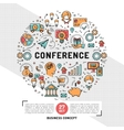 business conference design templates line vector image vector image