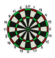 cartoon image of dart board icon dart symbol vector image
