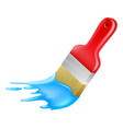 cartoon paint brush painting vector image