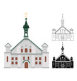 catholic church for churchgoers and religious vector image