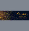christmas sale golden sparkle banner vector image