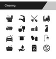 cleaning icons design for presentation graphic vector image vector image