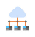 cloud data center icon computer connection hosting vector image vector image