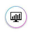 computer screen with financial charts and graphs vector image vector image