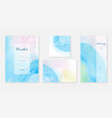 creative abstract template background set vector image vector image