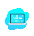 crispr genome editing technology icon vector image vector image