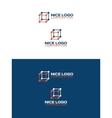 cube logo 3d vector image