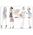 Cute fashion girls vector image
