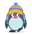 cute hand drawn penguin 3 vector image vector image