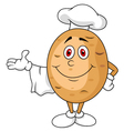 Cute potato chef cartoon character vector image