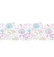 Cute smiling snails horizontal seamless pattern vector image vector image