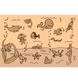 Cute Under the Sea Icon Set vector image vector image