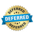 deferred round isolated gold badge vector image vector image