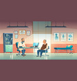 doctor and patient sit in medical office vector image