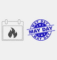 dot hot calendar leaf icon and scratched vector image vector image