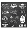 easter typographical design elements vector image vector image