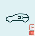 electric vehicle power charging station vector image vector image