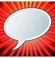 Empty speech bubble vector image vector image