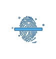 fingerprint icon design vector image