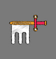 flat shading style icon ancient weapon sword vector image vector image