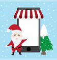 frame shopping online promotion of santa claus an vector image