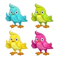 Funny cartoon bird vector image