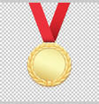 gold medal isolated on transparent background vector image vector image