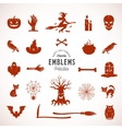 Halloween Silhouettes Icons or Symbols vector image