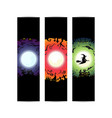 happy halloween party circle gradient banner vector image vector image