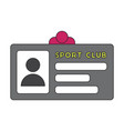 icon in flat design personal card sports club vector image vector image