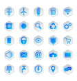 icons for automated house management system vector image