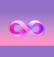 infinity color icon sign element geometric vector image vector image