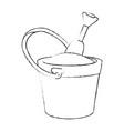 isolated bucket of sand vector image