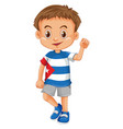 little boy wearing shirt with cuba flag vector image vector image