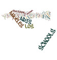 los angeles schools welcome back the arts text vector image vector image