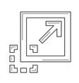 maximize image line icon vector image vector image