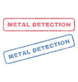 metal detection textile stamps vector image vector image