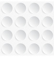 modern seamless pattern in white circle buttons vector image vector image
