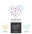 Modern set icon heart Heart logo template vector image vector image