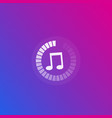 music streaming icon vector image vector image