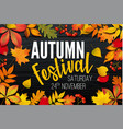 november autumn festival announcement invitation vector image vector image