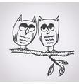 owl free hand drawn vector image