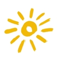Painted Yellow Sun Icon vector image vector image