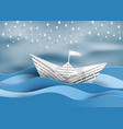 paper sailing boat vector image vector image
