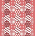 patchwork quilt background in shades red vector image vector image