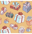 pattern gifts yellow vector image vector image